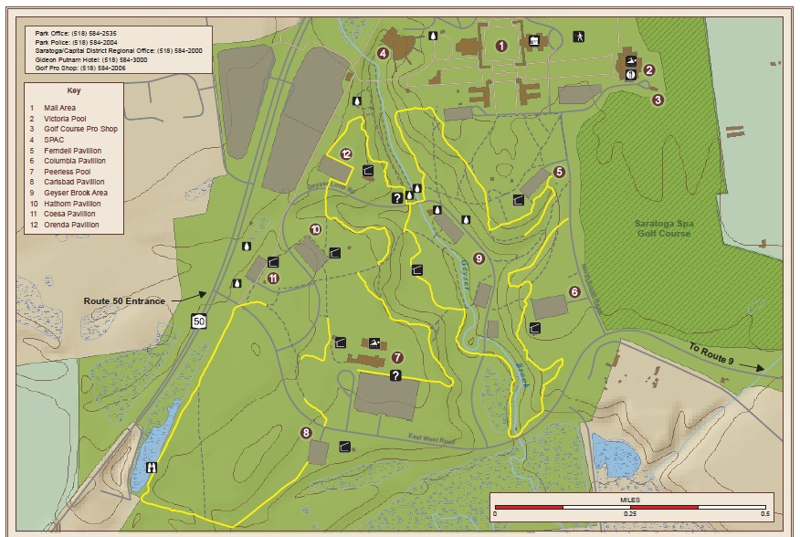 Saratoga Spa State Parking Hiking Trails